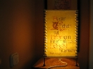 Lampe mit Text